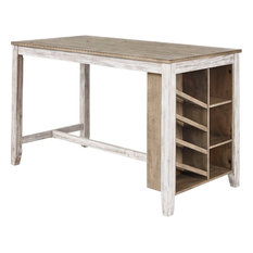 Ashley Furniture Skempton Counter Table With Storage, White/Light Brown