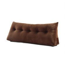Wedge Pillow, Headboard Cushion Backrest Coffee, 59x20x8