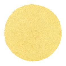 Shagadelic Chenille Twist 2'x2' Round Rug, Yellow