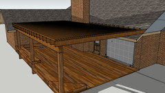 Attaching pergola to shingle roof