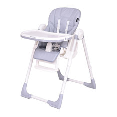 Unbranded Folding Height Adjule Recline Feeding Baby High Chair Grey Chairs And