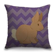 """""""Rabbit - Woodland Creatures"""" Pillow 16""""x16"""""""