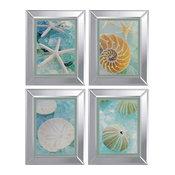 """Seaglass Artwork, Set of 4, 16""""x20"""""""