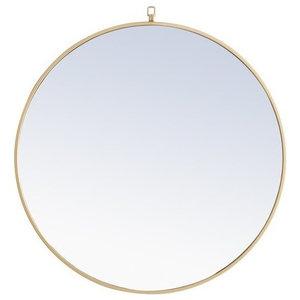 Elegant Eternity Metal Frame Round Mirror