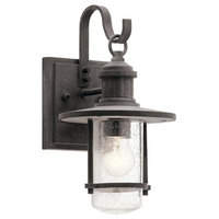 Riverwood Outdoor Wall 1-Light, Weathered Zinc