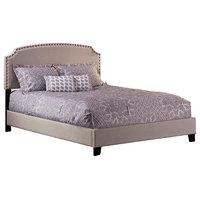 Lani Bed, Twin, Rails Included, Light Linen Gray
