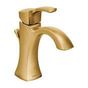 Moen 6903 Voss Single Handle 1 Hole Bathroom Faucet - Brushed Gold