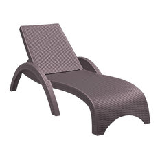 Compamia Miami Outdoor Chaise Lounges, Set of 2, Brown