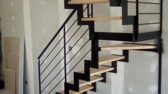 escalier en cremaillere,palier intermediaire