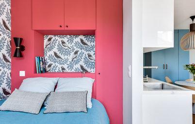Houzz Франция: 3 проекта квартир-студий с выделенной спальней