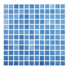 "12.5""x12.5"" Fog Sky Blue Glass Tile"