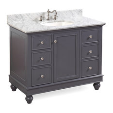 kitchen bath collection bella bath vanity base charcoal gray top carrara