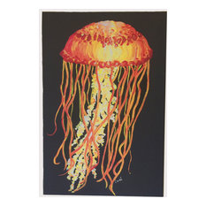Vivid Jellyfish Canvas Painting, 16x24""
