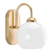 Carisa 1-Light Bath Vanity, Vintage Gold, Opal Glass