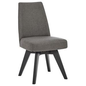 Aalto Fabric Swivel Dining Chair, Set of 2