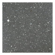 Sterling 12x12 Self Adhesive Vinyl Floor Tile, Black Speckled Granite
