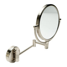 """ALFI 8"""" Round Wall Mounted 5x Magnify Cosmetic Mirror"""