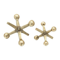 Aluminum Jacks Sculptures, 2-Piece Set, Gold