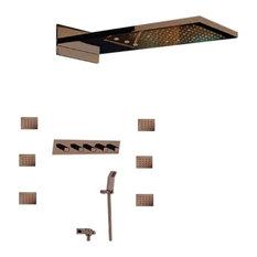 Lima Oil Rubbed Bronze Ultra Shower Set