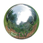 Silver Stainless Steel Gazing Globe, Silver, 12""