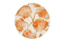 Safavieh Dip Dye DDY683A Rug, Ivory/Orange, 7'x7' Round