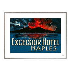 Contemporary Modern Transitional Fine Art,  EXCELSIOR HOTEL, NAPLES, Silver Leaf