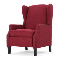 GDFStudio - Weyland Wingback Traditional Fabric Recliner Deep Red - Recliner Chairs  sc 1 st  Houzz : colorful recliners - islam-shia.org