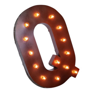 21 Quot Letter M Metal Marquee Light Up Sign Contemporary