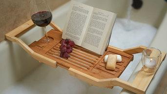 Luxe Bamboo Bathtub Caddy