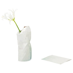 Small Paper Vase Cover, Light Grey