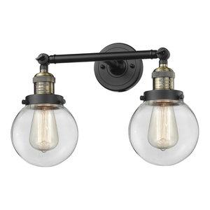 "Innovations Lighting 208-6 Beacon Beacon 2 Light 17"" Wide Bathroom Vanity Light"