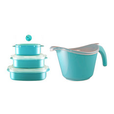 Calypso Basics Microwavable Cookware Set, Turquoise