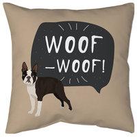 "French Bulldog Pillow, 18""x18"""