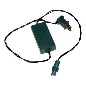 Queens of Christmas C-APCORD-1G Commercial Grade Power Cord with Inline Rectifier for Decorative Lights