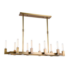 Minimalist chandeliers houzz elegant furniture lighting elegant lighting corsica collection 10 lights chandelier burnished brass aloadofball