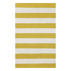"- Rugby Stripe Yellow Rugs 6302/09 - 24""X36"" - Outdoor Rugs"