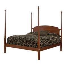 Betr Amish Furniture - Queen Cherry Pencil Post Bed, Natural Cherry - Canopy Beds