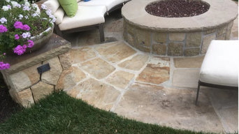 Outdoor Hardscaping, Fireplace and Stone
