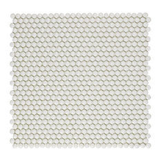 Expresiones Glass Mosaic Floor and Wall Tile, Button