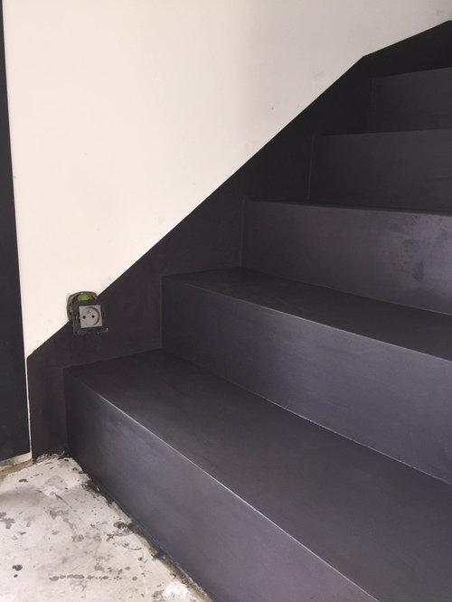 Escalier Beton Cir. Awesome Escalier Rnov En Bton Cir Couleur ...