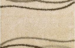 Concord Global Shaggy Modern Waves Natural Shag Rug