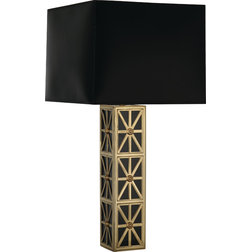 Great Contemporary Table Lamps Robert Abbey Directoire Table Lamp Black Parchment