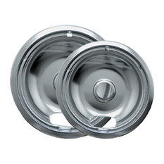 Range Kleen 12782Xcd5 Chrome Drip Pans, Plug-In Ranges Fits Most Amana