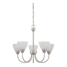 Tia Indoor Lighting Chandelier, Matte Nickel