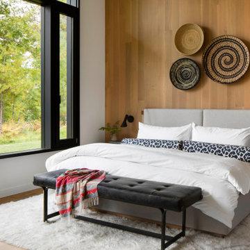 Modern Northwoods Residence Guest Bedroom