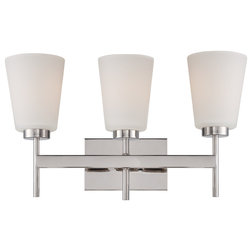 Ideal Contemporary Bathroom Vanity Lighting by Satco Lighting