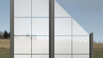 Glaszaun – Zaun aus Glas als Sichtschutz für Garten & Terrasse LGP-1701-Z