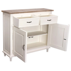 Chateau 2-Drawer 2-Door Sideboard, Antique White