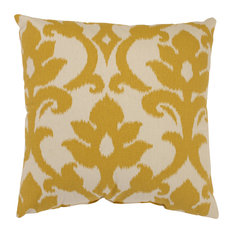 "Azzure Gold 18"" Throw Pillow"