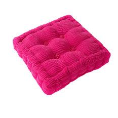 Square Thicken Cushion Tatami Floor Cushion, Car Pillow, Rose Red